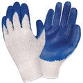 3891: Blue Latex Palm Coated Economy Weight String Knit Gloves - 12 Pack
