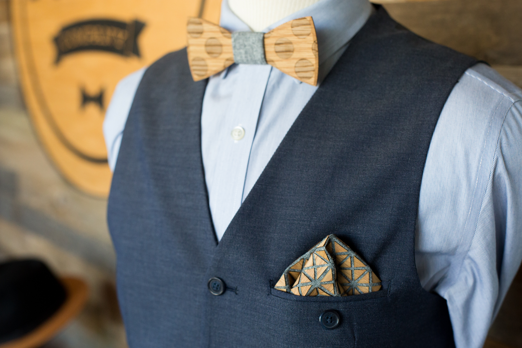 How To Fold A Wooden Pocket Square Two Guys Bow Ties