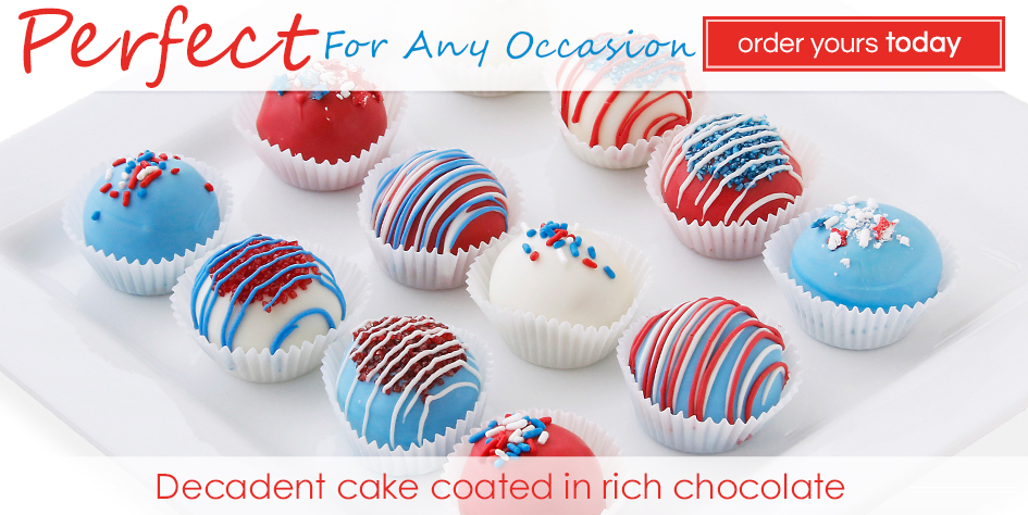 4th of July Cake Balls