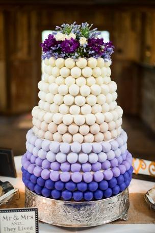 Elegant Cake Ball Wedding Cake Purple Ombre ...