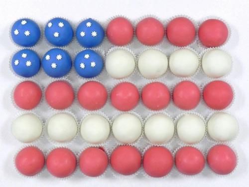 American Flag cake ball cake