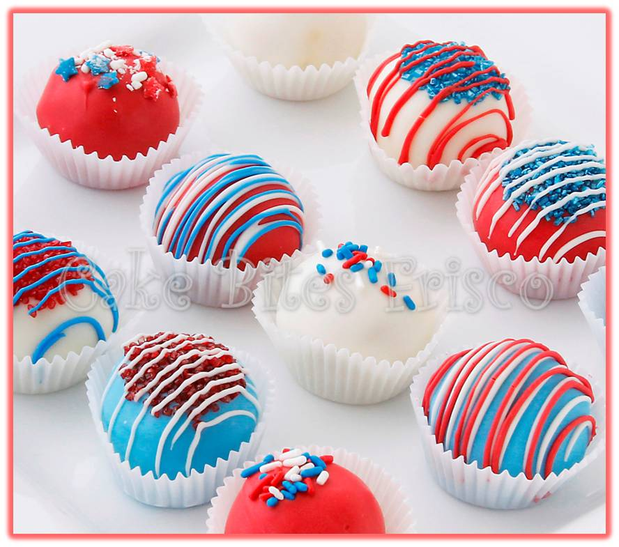 Have a (cake) ball this 4th of July! - Cake Bites