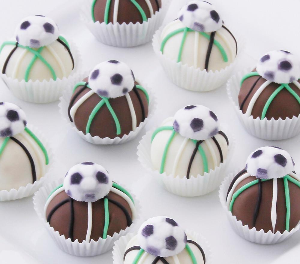 how to make a soccer cake balls