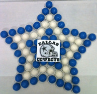 Dallas Cowboys Cake Bites shape cake!  A delicious way to support America's team!
