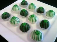 St. Patrick's cake balls