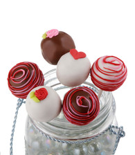 Hearts and Roses cake pops, perfect for Valentine's Day!