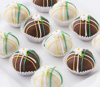 Beautiful lily cake balls