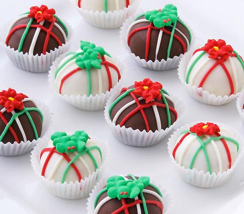 Poinsettia cake balls