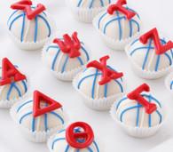 Greek letters cake balls