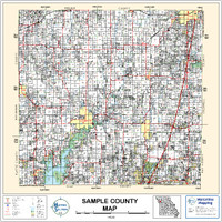 Nowata County Oklahoma 1998 Wall Map