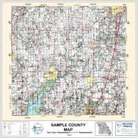 Rogers County Oklahoma 1998 Wall Map