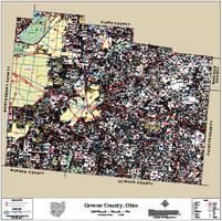Greene County Ohio 2015 Wall Map