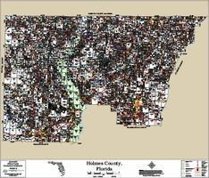 Holmes County Florida 2016 Wall Map