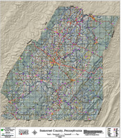 Somerset County Pennsylvania 2017 Aerial Wall Map