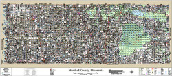 Marshall County Minnesota 2017 Wall Map