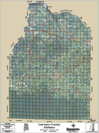 Lawrence County Alabama 2014 Aerial Map