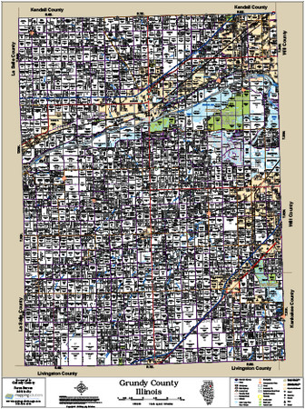 Grundy County Illinois 2015 Wall Map