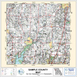 Pittsburg County Oklahoma 1999 Wall Map