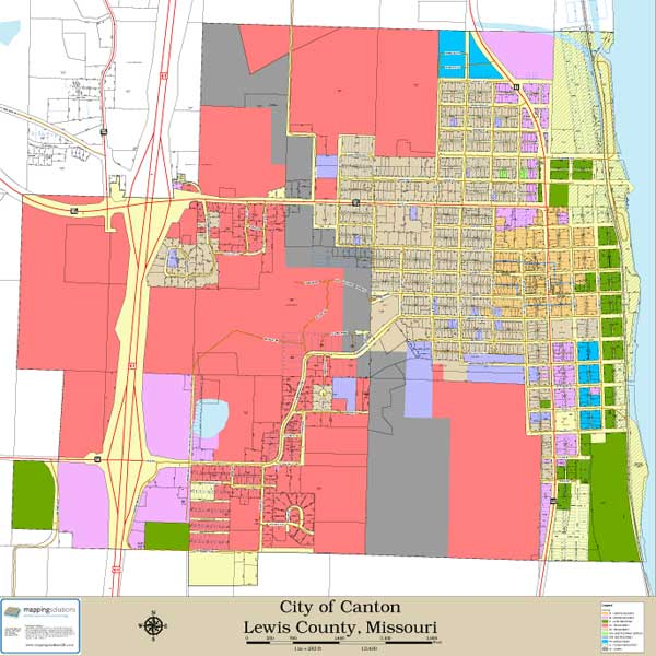 Mapping Solutions Custom City Map