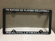 Real Volleyball License Plate Frame