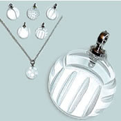 Excel Crystal Volleyball Necklace
