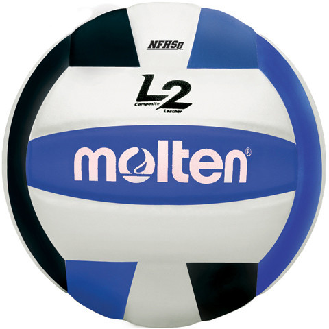 Molten L2 Volleyball Black Blue White Real Volleyball