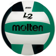 Molten L2 Volleyball (Black/Green/White)
