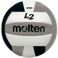 Molten L2 Volleyball (Black/Silver/White)