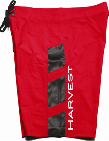 Harvest Blue Techno Boardshort - Red (includes inner compression short)