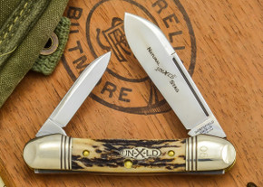 Great Eastern Cutlery: #16 - Northfield Un-X-LD - Natural Stag - 05