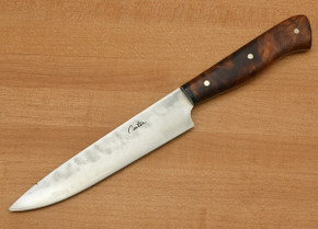 Carter Cutlery: Special Edition Kitchen Knife - Super Blue Steel - Custom Desert Ironwood #4