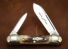Great Eastern Cutlery: #16 - Northfield Un-X-LD - Natural Stag - 32