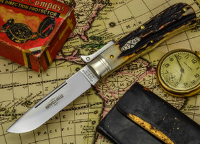 Great Eastern Cutlery - Northfield Un-X-LD - #23 Bull Lock - Burnt Stag - Unserialized - B