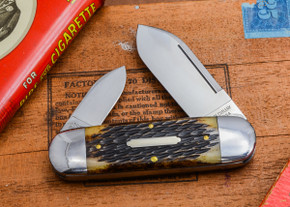 Great Eastern Cutlery: #36 - Tidioute - Ken Daniel's Sunfish - Antique Amber Little Jigged Bone