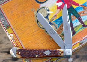 Great Eastern Cutlery:  #48 EC - Dogleg Jack - Amber Jigged Bone - Serialized