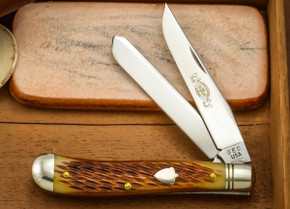 Great Eastern Cutlery: #48 Dogleg Trapper - Amber Jig Bone - Unserialized
