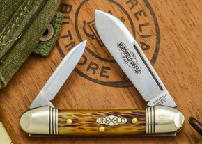 Great Eastern Cutlery: #16 - Northfield Un-X-LD - Amber Jig Bone - Serialized