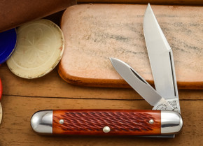 Great Eastern Cutlery: #68 - Tidioute - Pony Jack - Rust Red Jig Bone