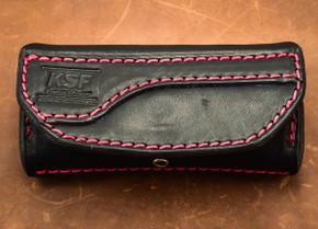 *KSF Leather: Horizon Belt Sheath for Folding Knives (Small) - Black - Jerzee Devil