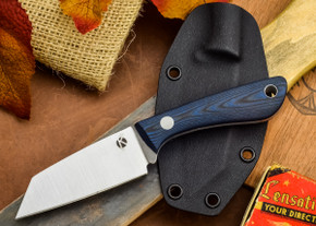 Dan Koster Knives: K6 Karda CPM3V w/ Kydex Sheath - Blue and Black G-10