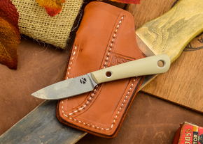 Dan Koster Knives: Scout 3v - Desert Tan G-10 - Pocono Sheath Brown