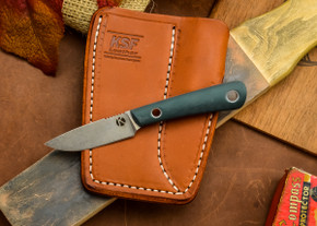 Dan Koster Knives: Scout 3v - Ranger Green G-10 - Adirondack Sheath Brown