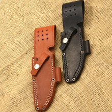 Bark River Bravo-1 Black Leather Sheath with Firesteel Holder
