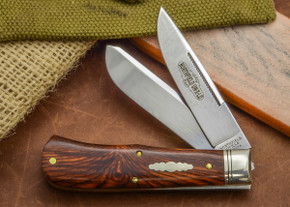 Great Eastern Cutlery: Northfield Un-X-LD #73 - Trapper - Cocobolo Wood - Two Blade