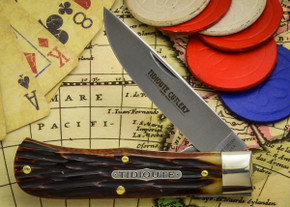 Great Eastern Cutlery: Tidoute #73 - Trapper - Autumn Gold Jig Bone - Unserialized - Liner Lock