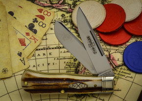 Great Eastern Cutlery: Northfield Un-X-LD #73 - Trapper - Burnt Stag - Unserialized - Two Blade - D