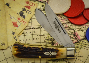 Great Eastern Cutlery: Northfield Un-X-LD #73 - Trapper - Burnt Stag - Unserialized - Two Blade - E