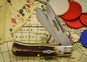 Great Eastern Cutlery: Northfield Un-X-LD #73 - Trapper - Burnt Stag - Unserialized - Two Blade - F