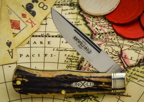 Great Eastern Cutlery: Northfield Un-X-LD #73 - Trapper - Burnt Stag - Unserialized - Liner Lock - B