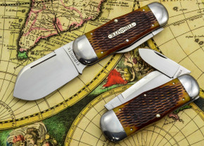 Great Eastern Cutlery: #46 Tidioute - Whaler - Autumn Gold Jig Bone - Unserialized